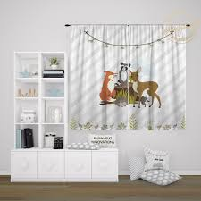 Woodland Animals Girls Room Decor Kids Bedroom Curtain Forest Animals Theme 430 Eloquent Innovations