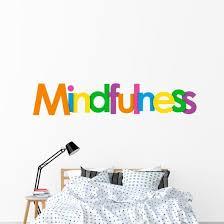 Lettering Mindfulness Word Wall Decal Wallmonkeys Com