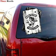 Three Ratels Fc6 B W Ace Playing Cards Design With Born To Fish Forced To Work Fishing Motif Vinyl Car Sticker Car Decal Wall Stickers Aliexpress