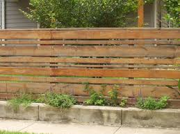 3d Horizontal Wood Slat Fence With Wood Fence Design Backyard Fences Fence Design