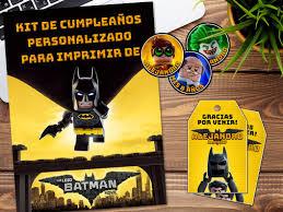 Kit Imprimible Lego Batman Personalizado Cumpleanos Candybar