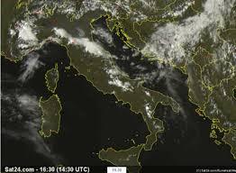 La situazione oggi in Italia vista dal satellite - Meteo: La ...