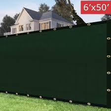 Decorative Fences Amagabeli 5 8 X50 Fence Privacy Screen Heavy Duty For 6 X50 Chain Link