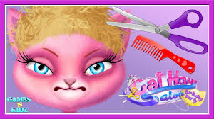 baby play cute kitten makeup makeover