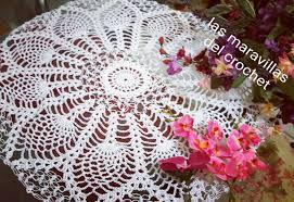 tapete redondo de piñas a crochet paso
