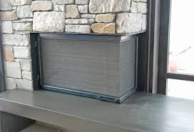l shaped fireplace screen