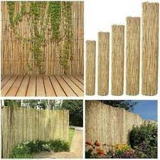 Bisen Reed Fence Screening Screen 1 0 M X 4 0 M Garden Roll Screen Wind Protector Sun Privacy Border Natural Best Amazon Co Uk Garden Outdoors