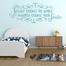 Let Your Smile Change The World Wall Decal A Great Impression