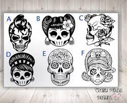 Sugar Skull Skull Decals Car Decal Skull Decal Sugar Skull Etsy In 2020 Skull Decal Sugar Skull Artwork Skull