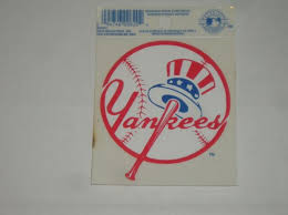 New York Yankees Mlb Baseball Reusable Static Cling Window Decal Sticker Ebay
