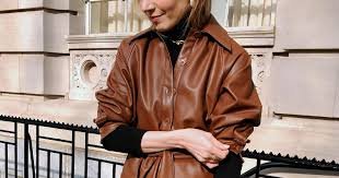 wear the leather trend for spring