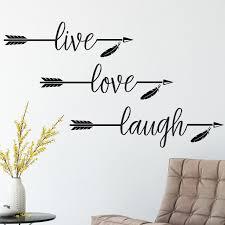 Amazon Com Live Love Laugh Arrow Vinyl Wall Decal Black Set Of 3 Handmade