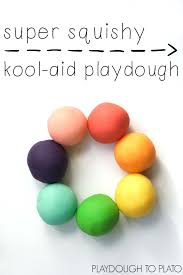 kool aid playdough playdough to plato