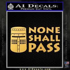 Black Knight None Shall Pass Monty Python Decal Sticker A1 Decals