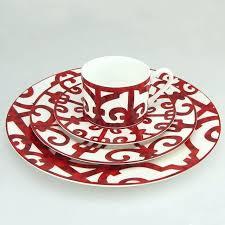 red glass dinner plates s avon ruby 9