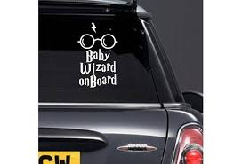 Baby Wizard On Board Car Sticker Harry Potter Sticker Harry Potter Glasses Car Window Decal New Baby Gift Baby On Board Sign 272 Wish