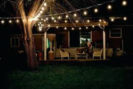 outdoor patio string light pole ideas