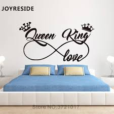 Quotes King And Queen Vinyl Wall Sticker Decor For Bedroom Decoration Art Decal Decorative Stickers Murals Wallstickers Buy At The Price Of 2 67 In Aliexpress Com Imall Com