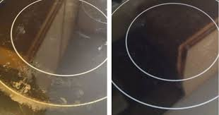 glass stove top sparkling clean