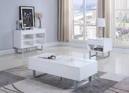 glossy white coffee table coaster 705698