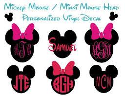 Mickey Mouse Head Monogrammed Vinyl Decal By Marshmallowdream 8 00 Mickey Mouse Monogram Disney Scrapbook Monogram Vinyl Decal