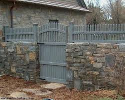 Wood Fence Gates Lowes Woodworking Rock Wall Fencing Backyard Fences Rustic Fence