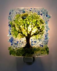 all mighty oak tree recycled glass