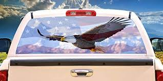 Amazon Com Signmission Freedom Flyer Rear Window Graphic Truck View Thru Vinyl Decal Back Posters Prints