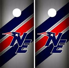 New England Patriots Cornhole Wrap Nfl Decal Wood Vinyl Gameboard Skin Set Yd318 Cornhole Bag Toss