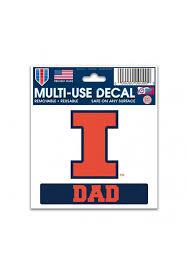 Illinois Fighting Illini Team Logo Dad Auto Decal Orange 5714723