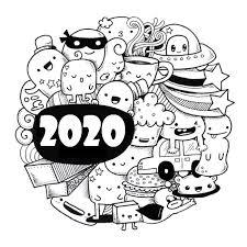 Anti Stress Kleurplaten Nieuwjaar 2020 Gelukkig Nieuwjaar 2020 5