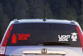 Star Wars Dark Side Vs Light Side Stickers Decal Sticker Car Window Decal Wall Sticker Labtop Decal Vinyl Dark Side Star Wars Light In The Dark Light Side