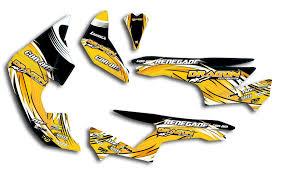 Decals Sticker Kit Can Am Renegade Yellow Drag On Quad Ssv Atv Utv