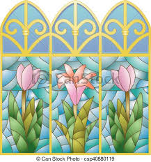 ilration of stained glass windows