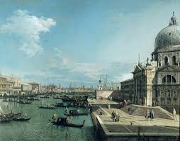 Canaletto The Entrance To The Grand Canal And The Church Of Santa Mar