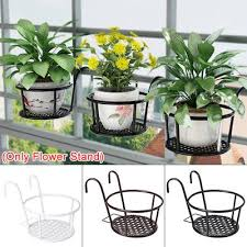 Hanging Plant Iron Racks Balcony Round Flower Pot Rack Railing Fence Outdoor Buy At A Low Prices On Joom E Commerce Platform