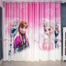 Window Curtain For Living Room Children Cartoon Frozen Printed Curtains Sheer Child Tulle Curtain Bedroom Kids Cortina 2pcs Curtains Aliexpress