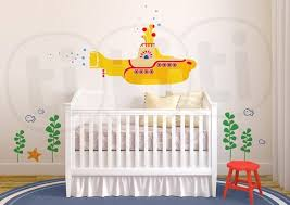 Yellow Submarine Wall Decal For Baby S Room Or Bathroom Beatles Baby Room Beatles Baby Nursery Yellow Submarine
