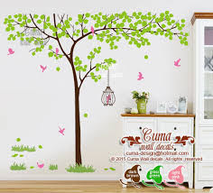 Nature Wall Decal Tree And Birdcage By Cuma Wall Decals On Zibbet