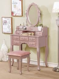harriet rose gold vanity with stool