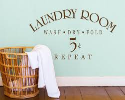 Laundry Sign Symbol Wall Decal Quotes Laundry Room Wash Dry Fold Repeat Wall Stickers Removable Vinyl Shop Decor Interior Syy840 Wall Decals Quotes Laundry Roomshop Decor Aliexpress
