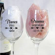 Hot Offer 4aaa Personalized Heart Arrow Bridal Party Wine Glass Decals Custom Bridesmaid Tumbler Vinyl Cups Sticker Wedding Decoration Pw648 Cicig Co