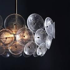 glass disk chandelier disk chandelier