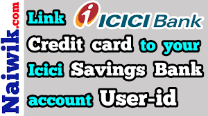 link icici bank credit card account to