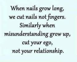 misunderstanding means that you are not emphasizing someone