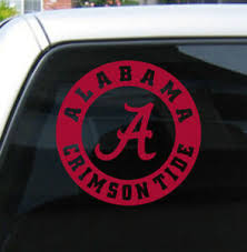 Alabama Crimson Tide Bama Vinyl Decal Sticker Car Window Buy 1 Get 1 Free Ebay