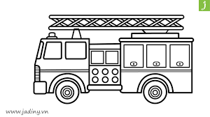 Tổng hợp bộ tranh tô màu xe cứu hỏa đẹp nhất trên mạng - Jadiny