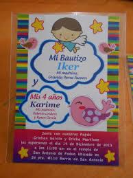 Invitacion Doble Bautizo 4 Anos Invitaciones De Fiesta Invitaciones De Cumpleanos