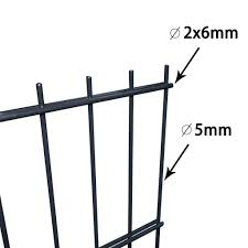 Vidaxl 2d Garden Fence Panels Posts 2008x2230 Mm 36 M Grey Fence Panels Vidaxl