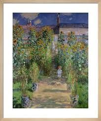 the artist s garden at vetheuil 1880